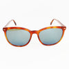 New Authentic Gucci GG0196SK 003 Havana Frame Sunglasses Blue Lens