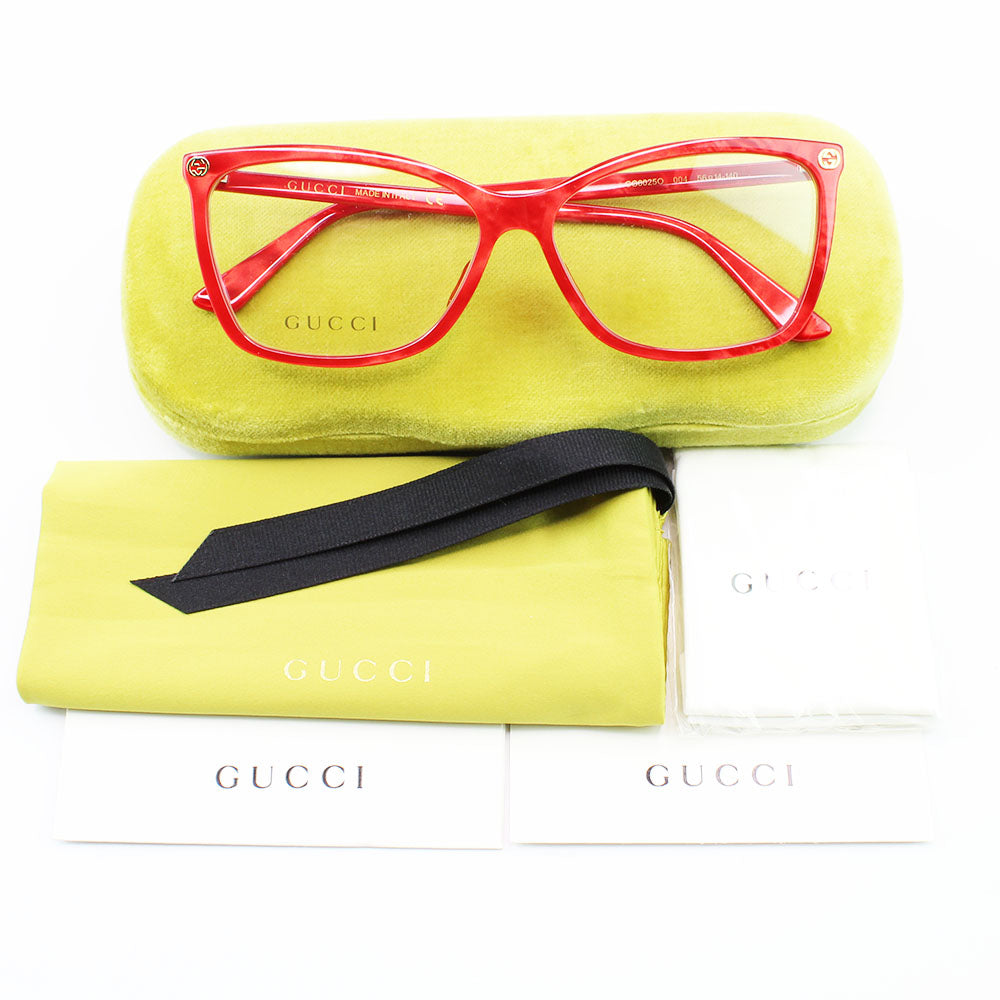 New Authentic Gucci GG0025O 004 Eyeglasses Demo Customisable Lens
