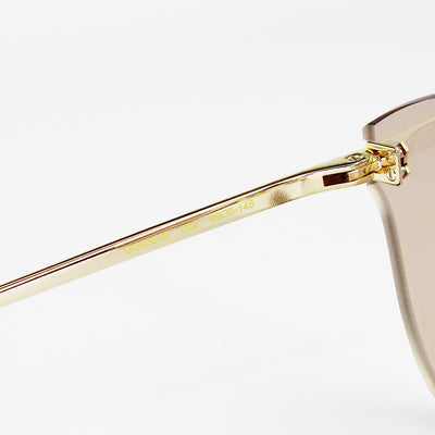 New Authentic Gucci GG0354S 002 Gold Frame Sunglasses Brown Lens
