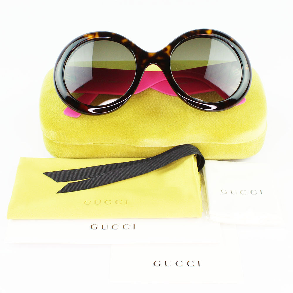New Authentic Gucci GG0101S 003 Sunglasses Brown Gradient Lens
