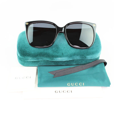 New Authentic Gucci GG0022S 007 Sunglasses Grey Polarized Lens