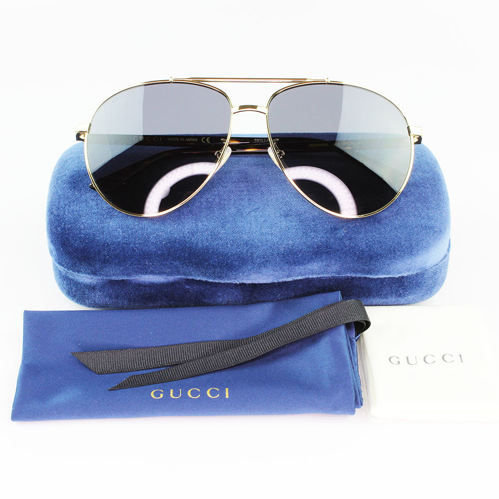 New Authentic Gucci GG0043SA 002 Sunglasses Grey Lens