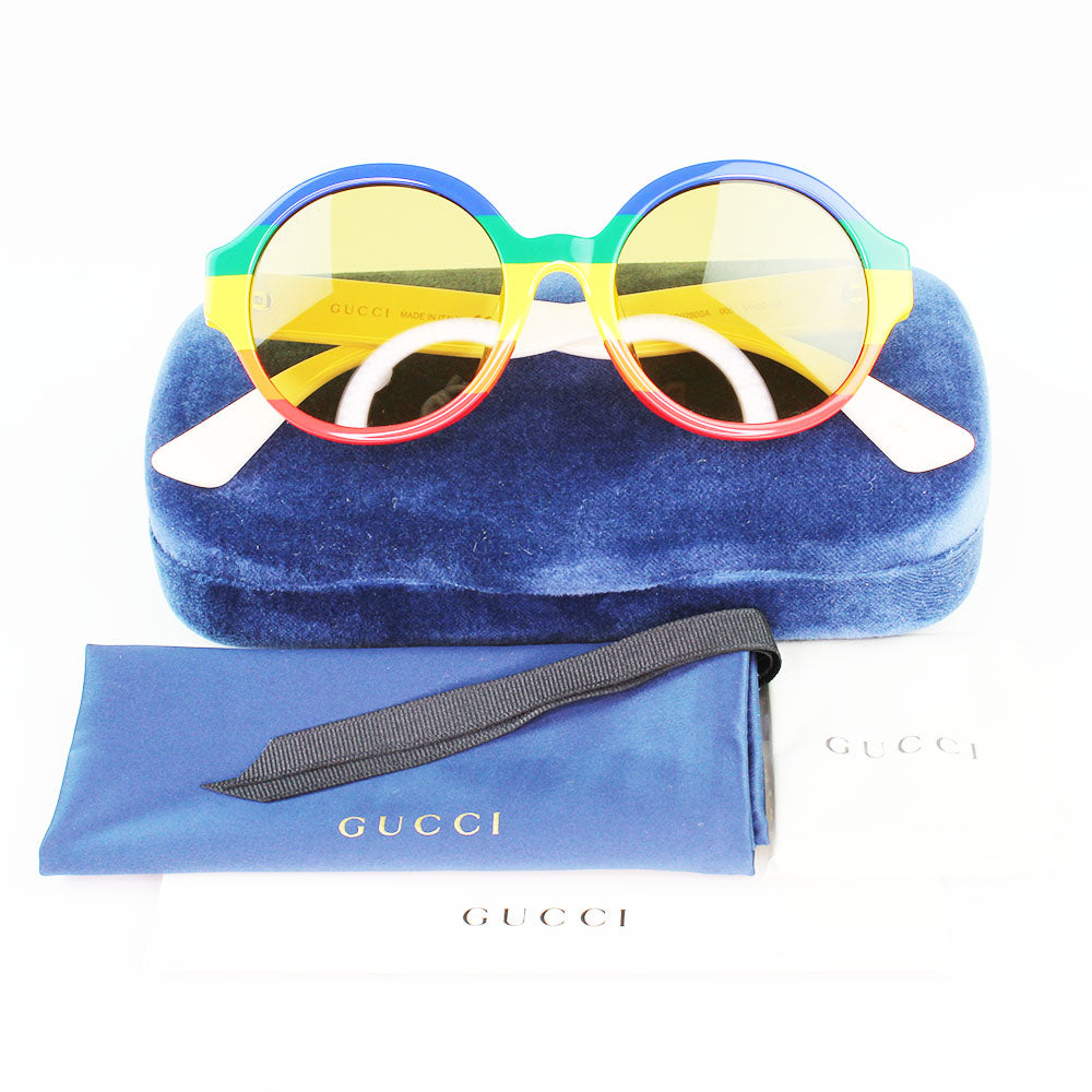 New Authentic Gucci GG0280SA 005 Multicolor Frame Sunglasses Brown Lens