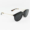 New Authentic Gucci GG0320S 001 Black/Gold Frame Sunglasses Gray Lens