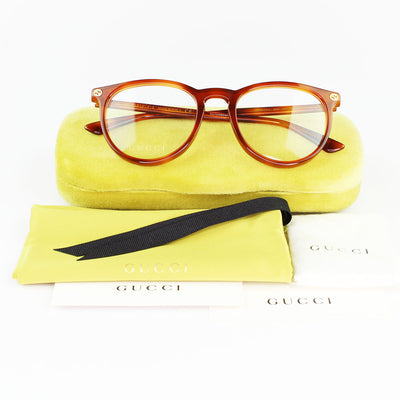 New Authentic Gucci GG0027O 003 Eyeglasses Demo Customisable Lens