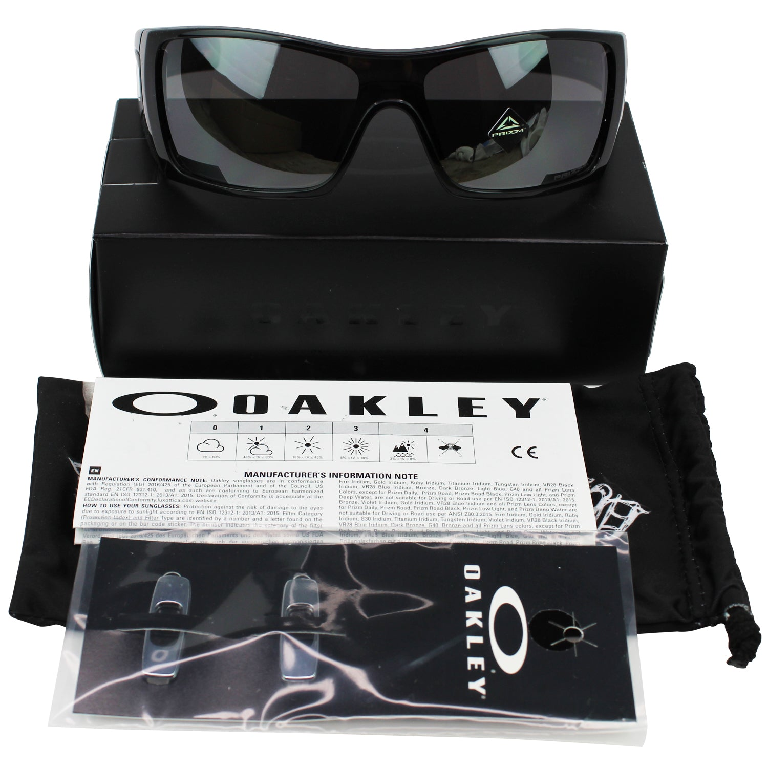 New Authentic Oakley OO9101-5727 Batwolf Sunglasses Prizm Black Lens