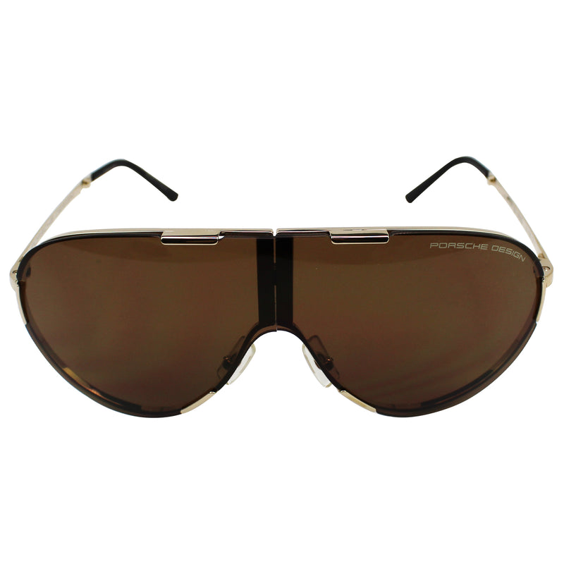 New Porsche Design P8486 A Brown Folding Sunglasses Brown Lens
