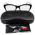 Authentic Ray-Ban RX5322 2034 Black Transparent Frame Eyeglasses Demo Lens