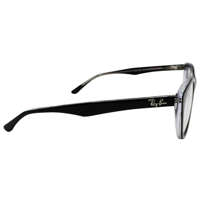 Ray Ban RX5322 2034 Black Transparent Frame Eyeglasses | Side View