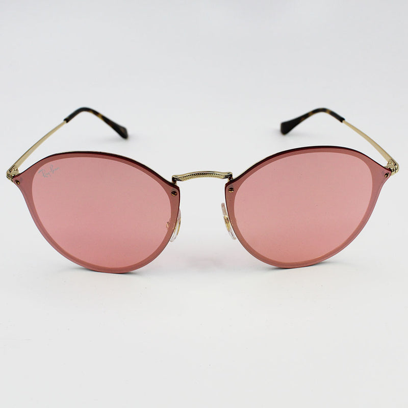 New Authentic Ray-Ban RB3574N 001/E4 Blaze Round Sunglasses Pink Mirror Lens