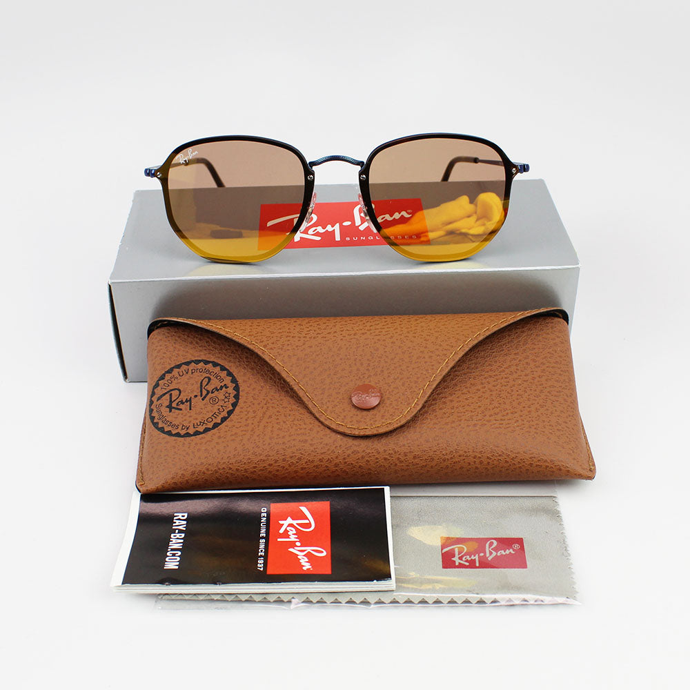 Ray-Ban RB3579N 90387J Blaze Hexagonal Sunglasses Dark Orange Gold