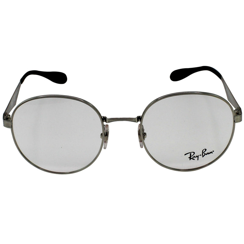 New Authentic Ray-Ban RX6343 2595 47 Silver Frame Eyeglasses Demo Lens