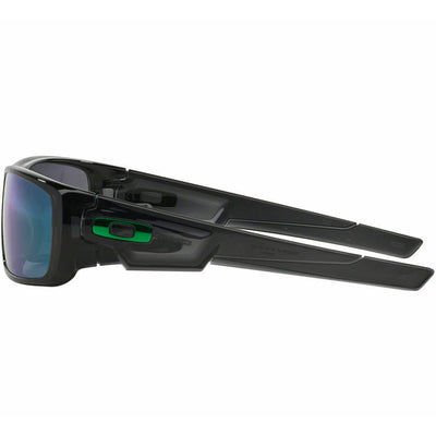 Oakley Crankshaft Sunglasses Jade Iridium Mirrored Lenses Side View
