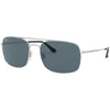 Ray Ban RB3611 003/R5 60 Silver Square Sunglasses | Shades HQ