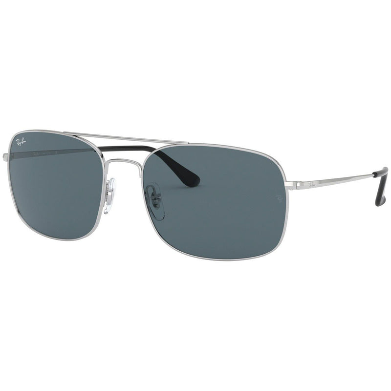 New Ray Ban RB3611 003/R5 60 Silver Sunglasses Blue Classic Lens