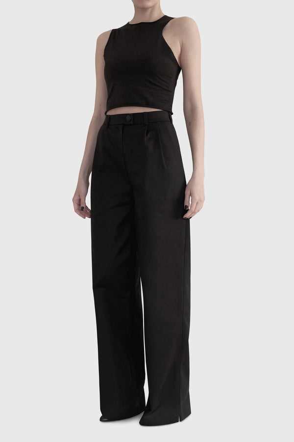 Francesca Wide Leg Trousers - ИOKO - nokoclub.com