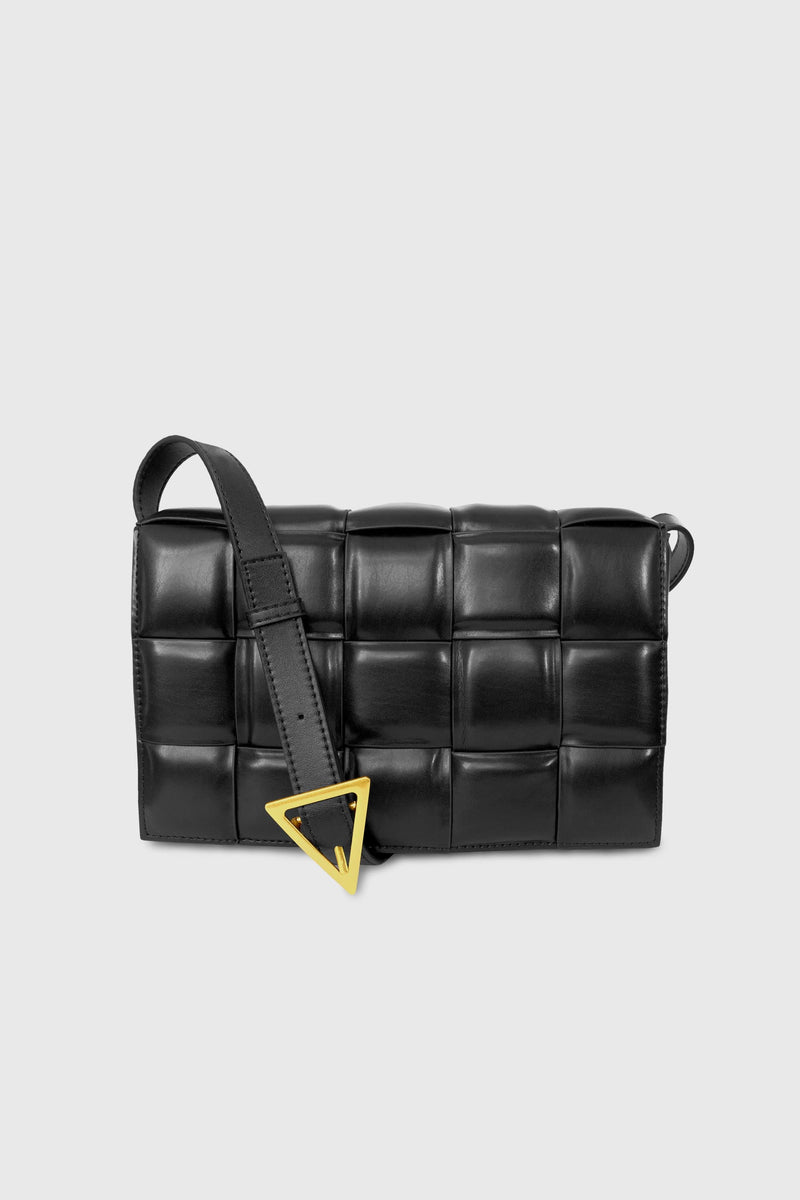 Karlie Leather Padded Weave Bag - ИOKO - nokoclub.com