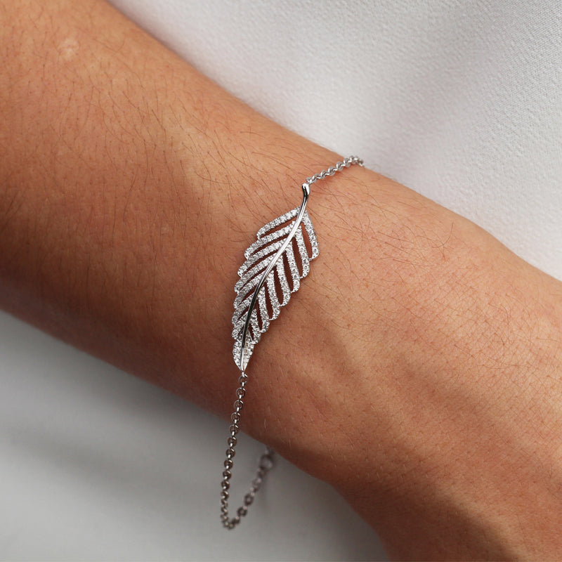 Pavé Feather Bracelet