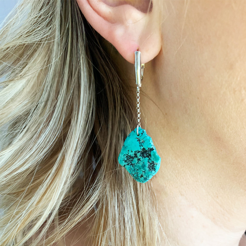 Harjo Turquoise Drop Earrings