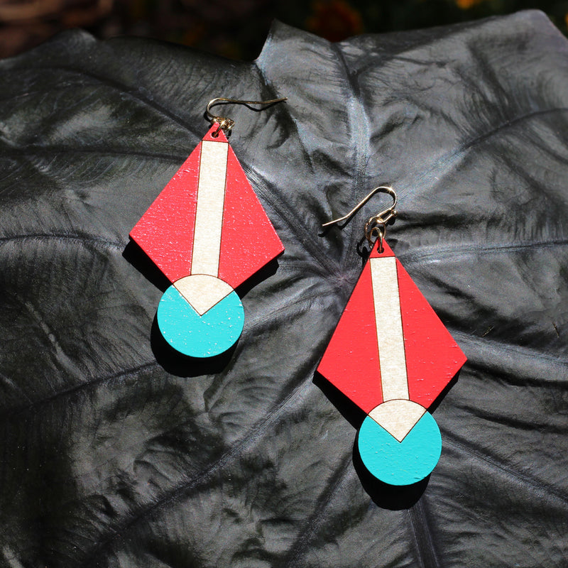 Primary Art Deco Earrings