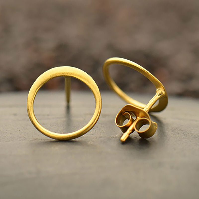 Deyli Circle Post Earrings Gold