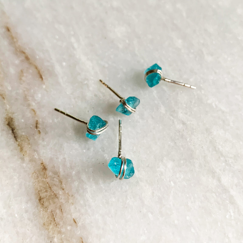 Pixie Natural Apatite Post Earrings