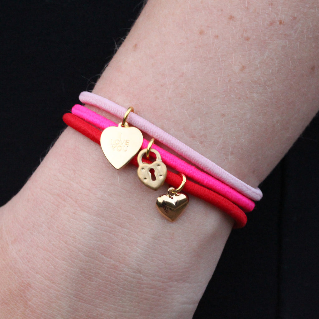 True Love Hair-Tie Bracelets 3-Pack