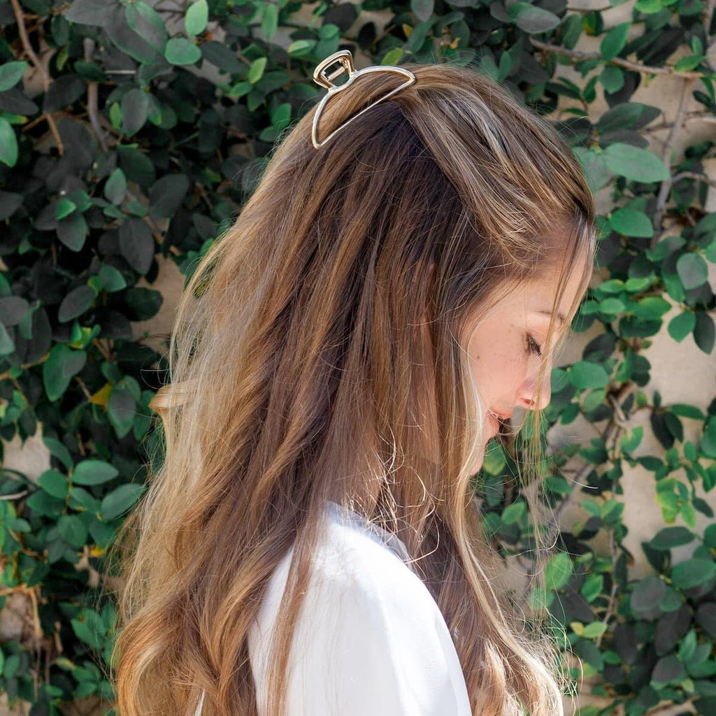 Gold Geometric Claw Clip