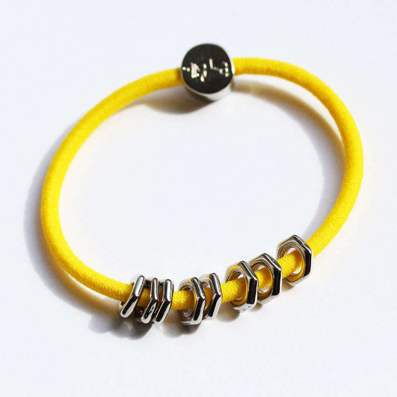 Silver Hex Hair-Tie Bracelet Canary