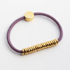Gold Disc Hair-Tie Bracelet Olive