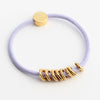 Gold Hex Hair-Tie Bracelet Lavender