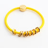 Gold Hex Hair-Tie Bracelet Canary