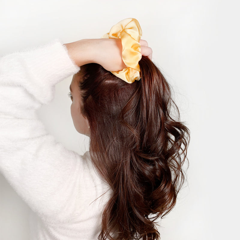 100% Silk Scrunchie Gold