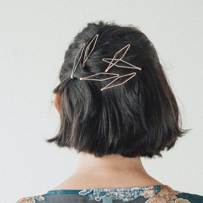 Elevated Bobby Pins Long Diamond