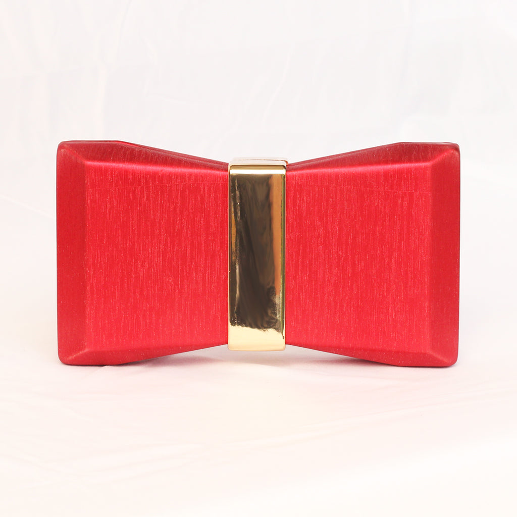 Red Bow Box Clutch