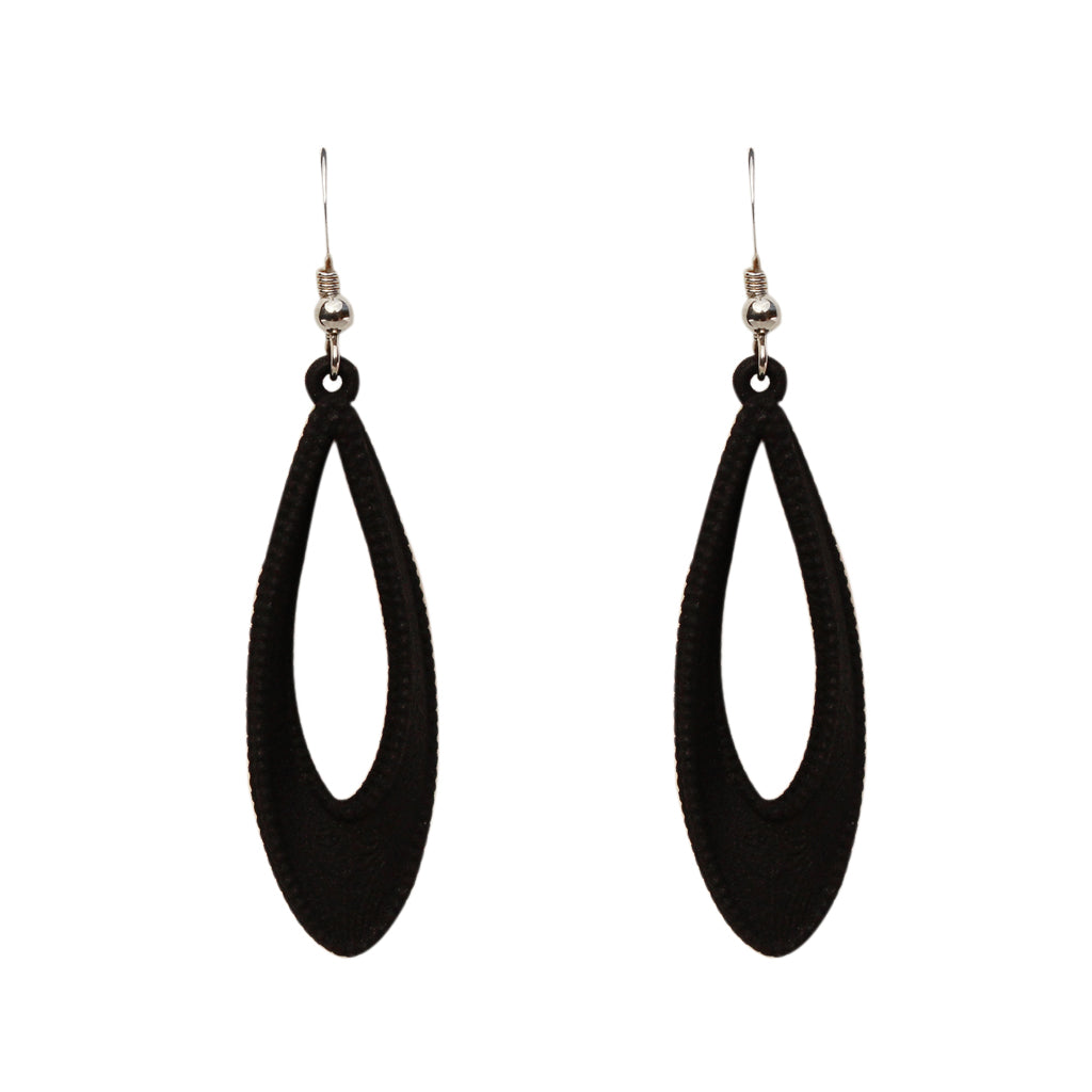 Mobius 3-D Printed earrings Black