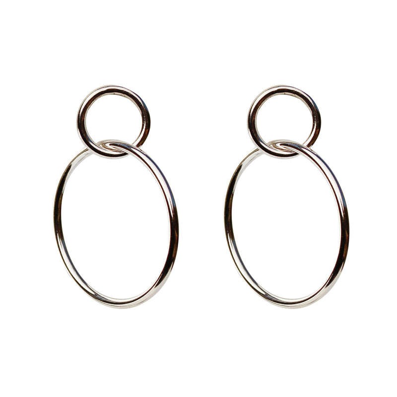 Monica Silver Dangle Earrings