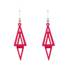 Twist 3-D Printed Earrings Wine