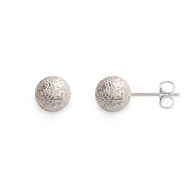 Sterling Silver Stardust Ball Post Earrings