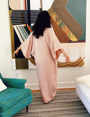 The Nina Dress in Rose Quartz Tencel