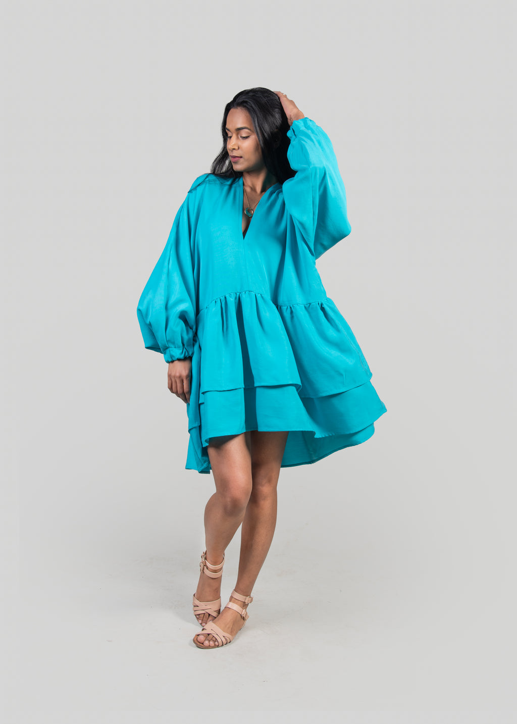 The Posey Dress in Turquoise