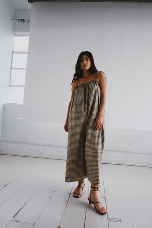 Sueño Cantina Plaid Jumpsuit by Selva Negra