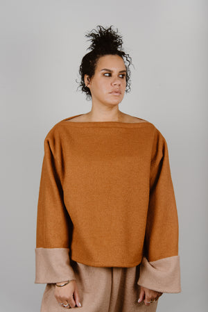 Ann Pullover in Boiled Wool