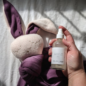 Raisin Knit Snuggle Bunny with Blush Face