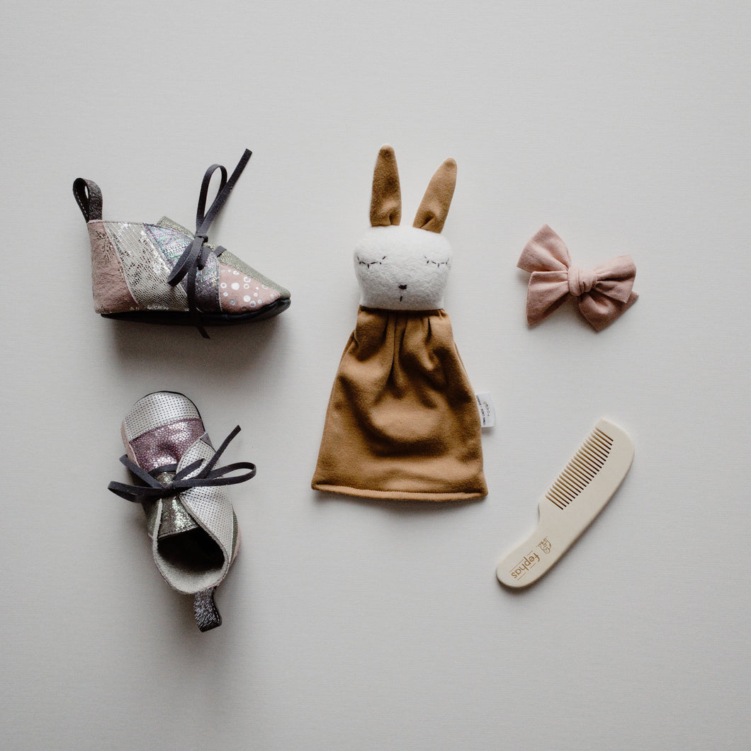Toast Tiny Snuggle Bunny Rattle