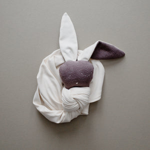 Cream Knit Snuggle Bunny