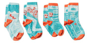 Kid's Socks - Quinn and Reya's Sports (4 pack) - Q for Quinn