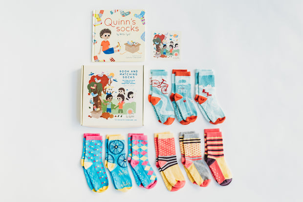 Book + Socks - Quinn's Socks Entire Collection (All 9 pairs included)