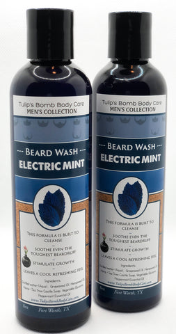 Electric Mint Beard Wash