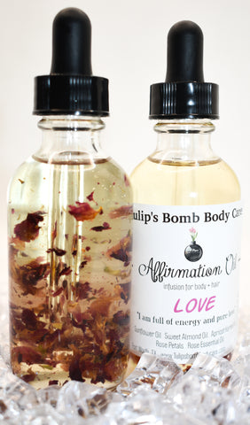 Tulips Bomb Affirmation Oils